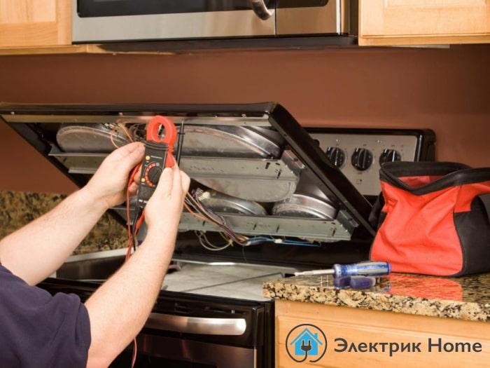 подключение электроплиты в Киеве